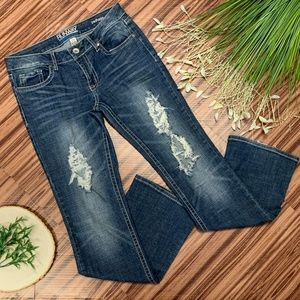 Refuge Distressed Runway Every Day Boot Cut Jeans